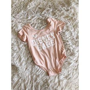 WILD RICH KIDS pink disney babe graphic onesie